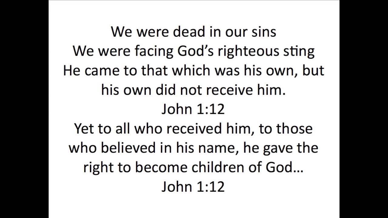 John 1:12 Memory Verse Song - YouTube