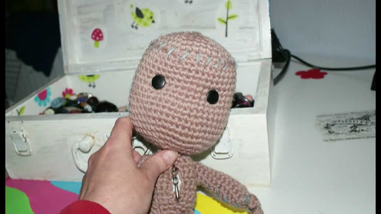 How to make a Sackboy on crochet - Pattern-easy! - YouTube
