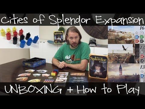 Cities Of Splendor Unboxing + How to Play || Splendor Expansion