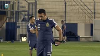 Entrenamiento de la Selección Argentina de cara al partido contra Irak