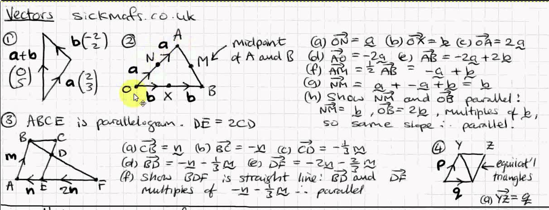 GCSE Maths: Vectors by sickmafs.co.uk - YouTube
