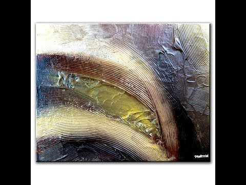 SIMPLE way to create beautiful textured ABSTRACT PAINTING of