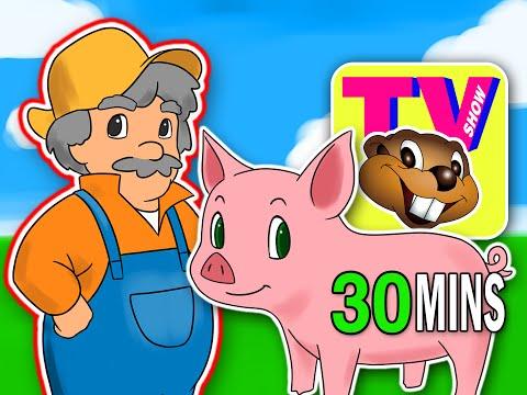 "BBTV S1 E5 ""Old MacDonald Had a Farm""   Busy Beavers TV Show   Nursery Rhyme, Kids Learning Video"