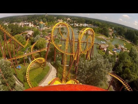 Goudurix Roller Coaster POV Parc Asterix Paris France