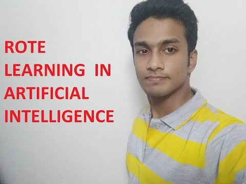 Rote Learning in artificial intelligence