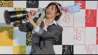 アイドルグループ「AKB48」のメンバーらがじゃんけんで勝負を繰り広げる...