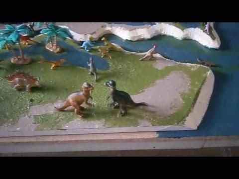 Dinosaur Diorama In Construction