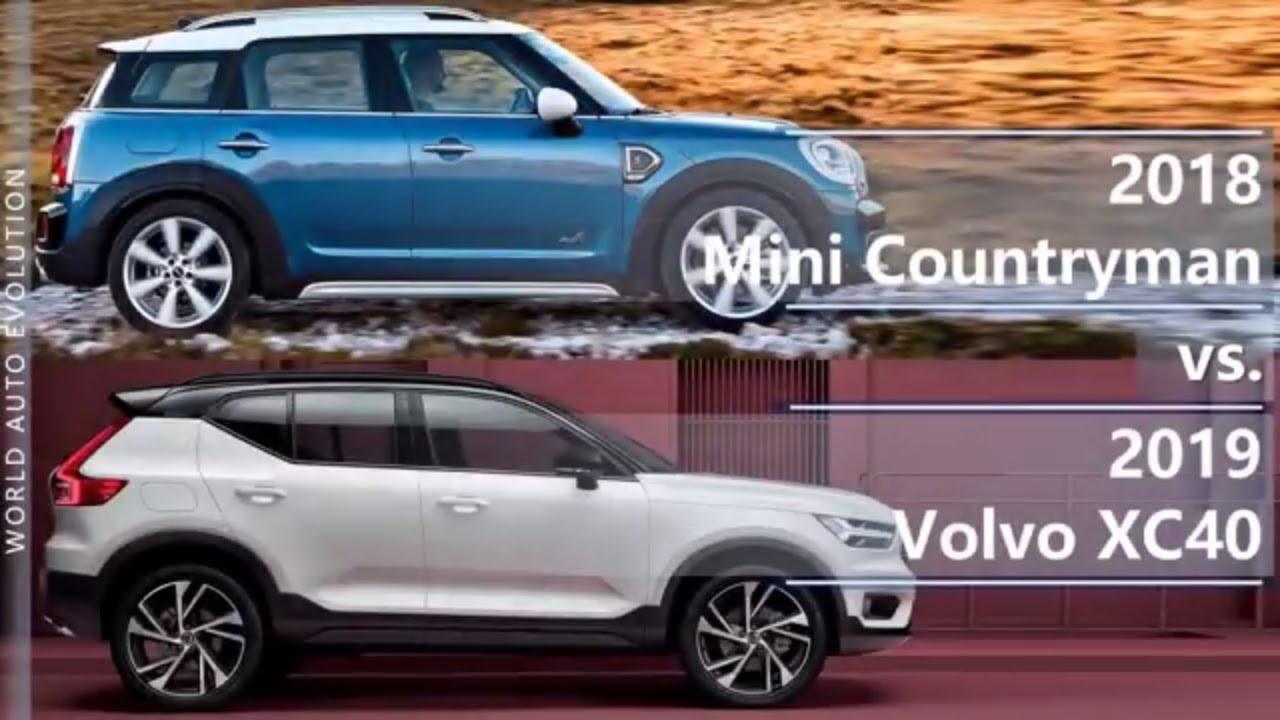2018 Mini Countryman Vs 2019 Volvo Xc40 Technical Comparison Youtube