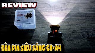 Xài thử đèn pin đội đầu G8 A4 siêu sáng