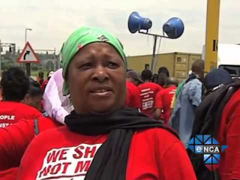 Residents Protest Against Durban's Port Expansion Plan