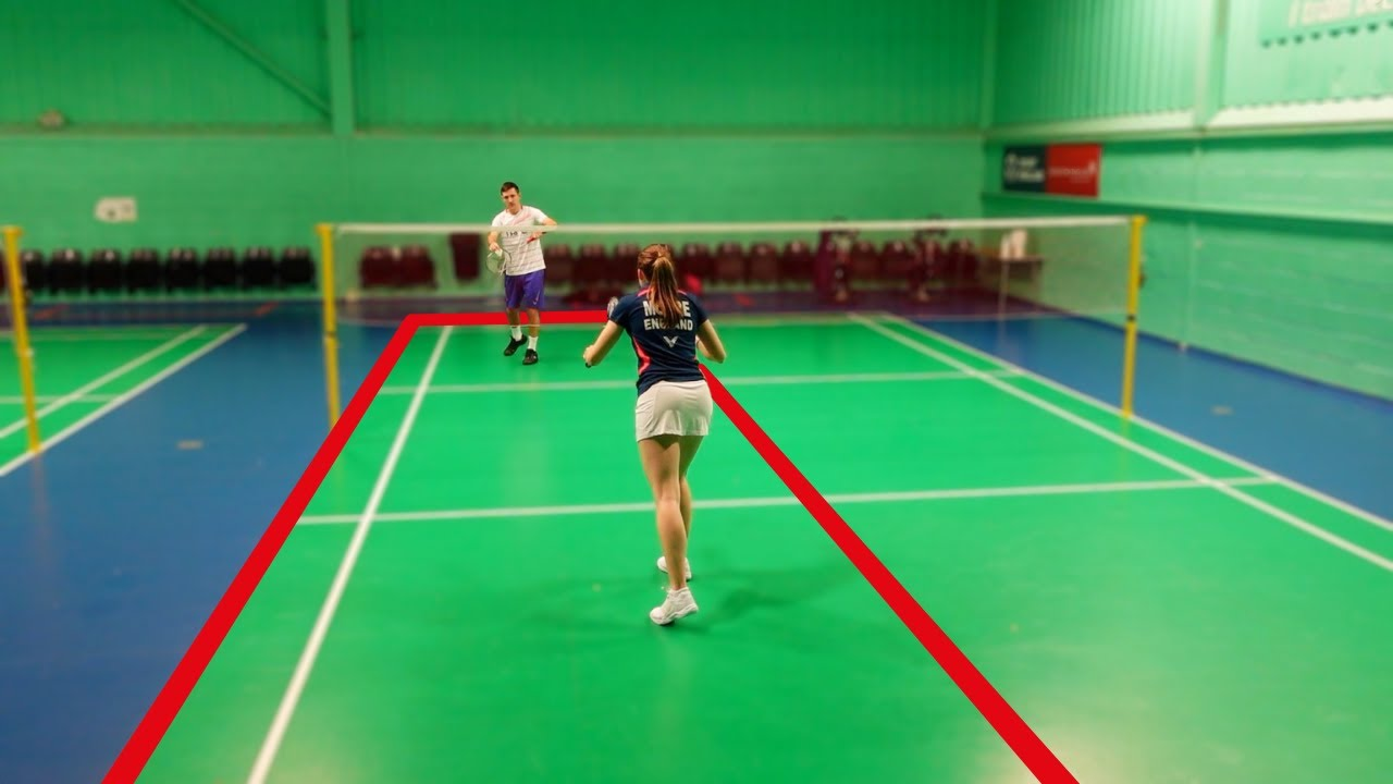 Badminton Training On A Half-Court - 8 Exercises To Improve Your Game!