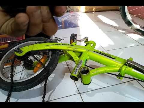 Bongkar Sparepart Sepeda Lipat Aleoca 14 Conveniente Youtube