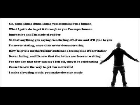 Eminem 15 Saniyede 101 Kelime Söylüyor :)