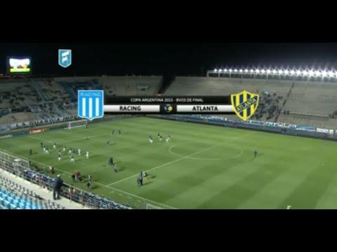 Fútbol en vivo. Racing- Atlanta. Octavos de Final. Copa Argentina 2015.