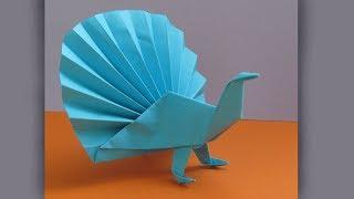 ПАВЛИН - Оригами животные из бумаги Своими Руками