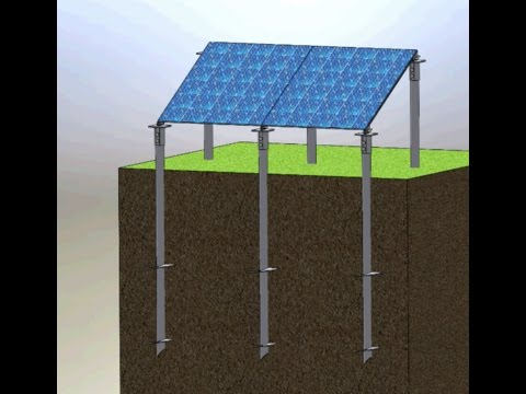 Helical Piles Anchor Application For Solar Plant Youtube