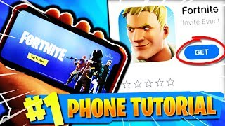 Comment télécharger FORTNITE sur Mobile! Obtenez FORTNITE BATTLE ROYALE sur iPhone! (FORTNITE TUTORIEL DE TÉLÉPHONE)