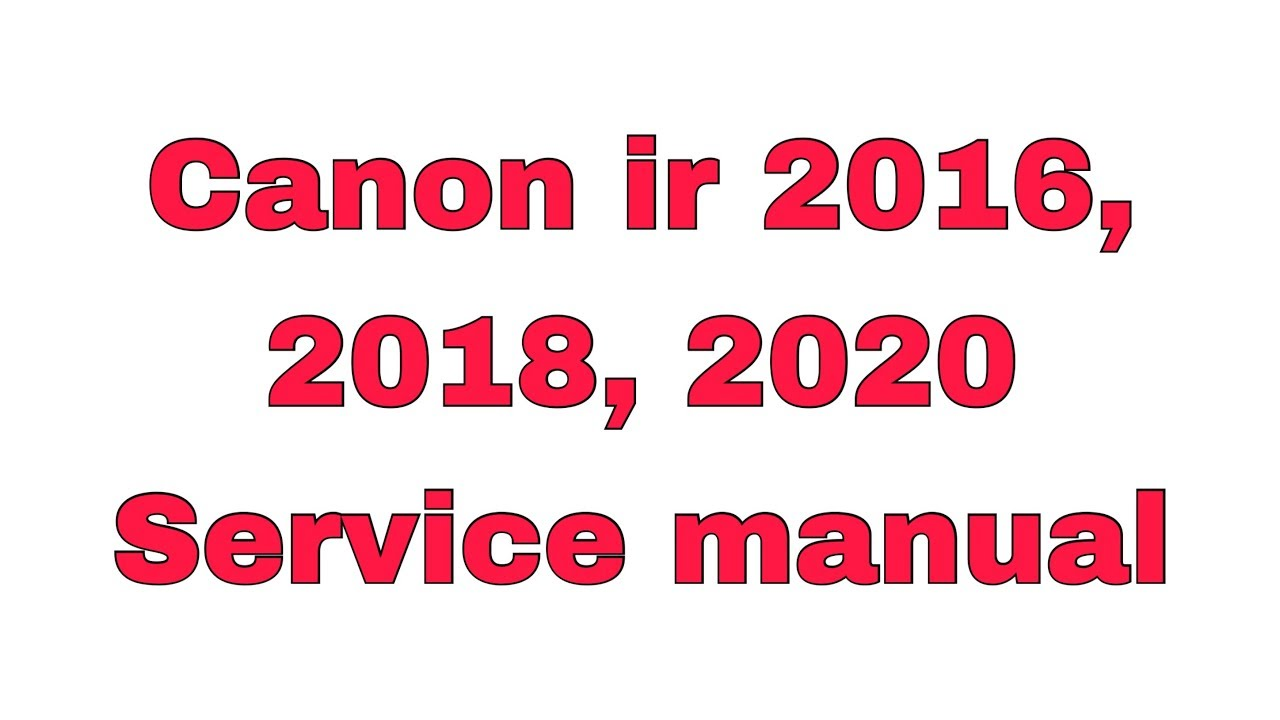 Canon Service Manuals Pdf