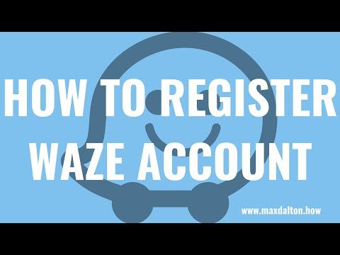 How to Register Waze Account