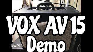 【Gear Demo】 VOX AV15 Sound demo w/Telecaster Review Testing