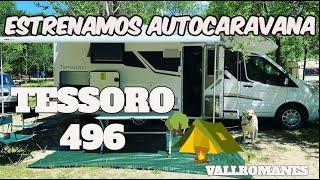 ESTRENAMOS AUTOCARAVANA!! PASAMOS DOS DIAS EN UN CAMPING RODEADOS DE NATURALEZA 🌲🐕🚐 TESSORO 496