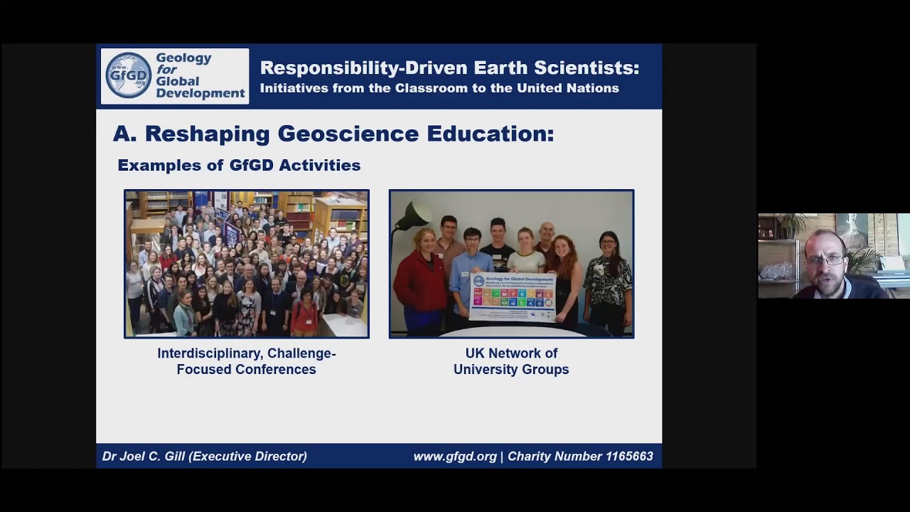 Joel Gill - Responsibility-driven Earth scientists: initiatives from the classroom to the UN