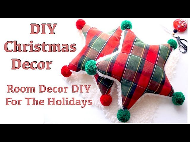 DIY CHRISTMAS DECOR // Star Pillow / Cushion Tutorial // Thrifted and Upcycledㅣmadebyaya