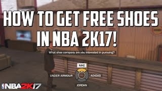 HOW TO GET FREE SHOES IN NBA 2K17 - ENDORSEMENTS!