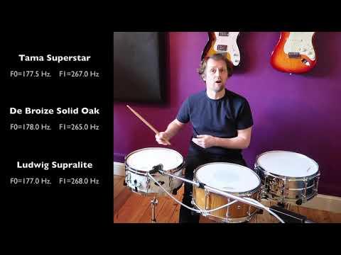 Snare Drum Tuning - Comparing De Broize Solid Oak, Ludwig Supralite Steel & Tama Superstar Birch Ply