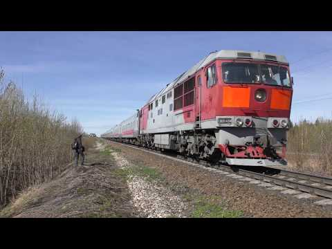[КОТЛАС] ТЭП70-0464 С Воркутинским поездом /  СЕВ Ж.Д./ Tep70 Power Loco