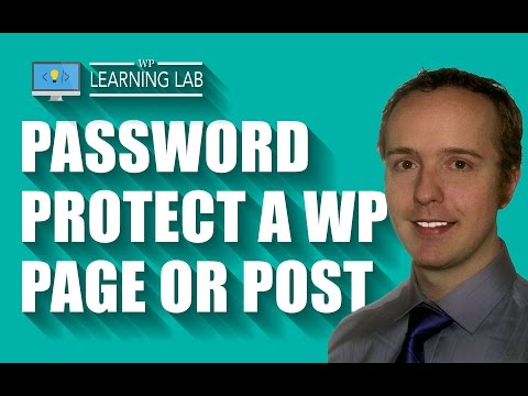 WordPress Password Protect Page Or Post | WP Learning Lab