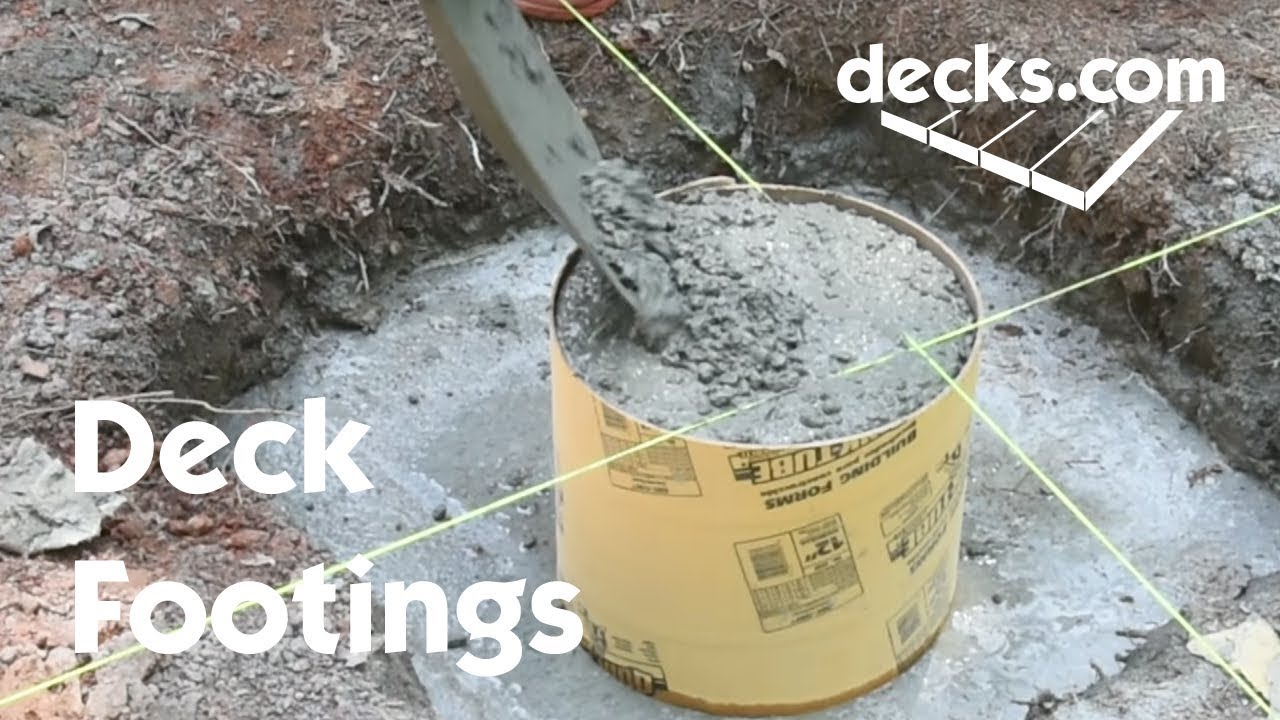how to build deck footings youtube. Black Bedroom Furniture Sets. Home Design Ideas