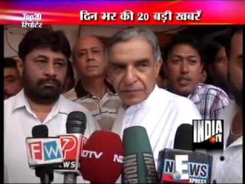 Pawan Bansal threatens a media reporter