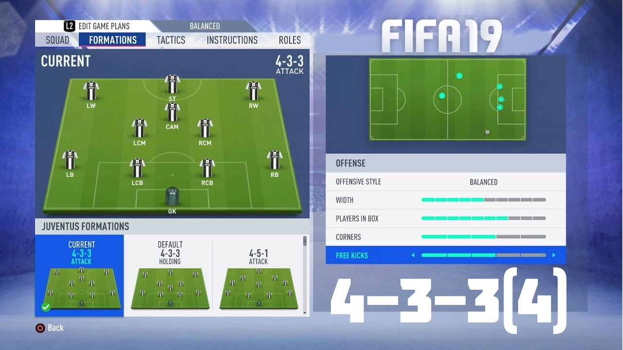 19 Best Ideas Of White Carpet Living Room: FIFA 19 BEST FORMATION (4-3-3(4)) TUTORIAL