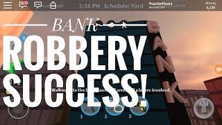 BANK ROBBERY SUCCESS! (Roblox Jailbreak)