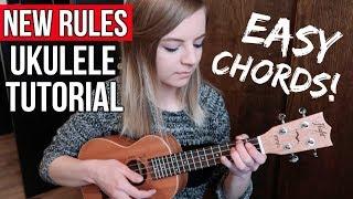 Download lagu New Rules - Dua Lipa   EASY UKULELE TUTORIAL