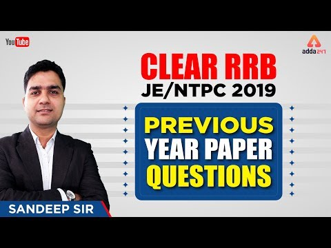 RRB JE/NTPC | Previous Year Paper Questions | Sandeep Sir | 7 pm