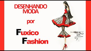 Design de Moda - Lady in Red - By Fuxico Fashion(, 2015-05-05T16:48:01.000Z)