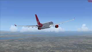 FSX Virgin Atlantic A330-300 Manchester-Orlando