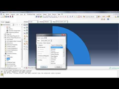 Abaqus/CAE plasticity tutorial: A step-by-step tutorial describing linear elastic, as well as plasticity, analysis of a long tube subjected to internal pressure. Plane strain elements were employed.