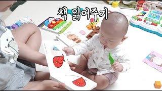 7개월아기 현실 책육아/흘려듣기,책노출,책읽어주기,책놀…