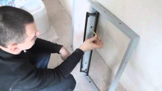 Скрытый ревизионный люк под плитку (евролюк) в ванную своими руками(, 2014-02-23T10:47:11.000Z)