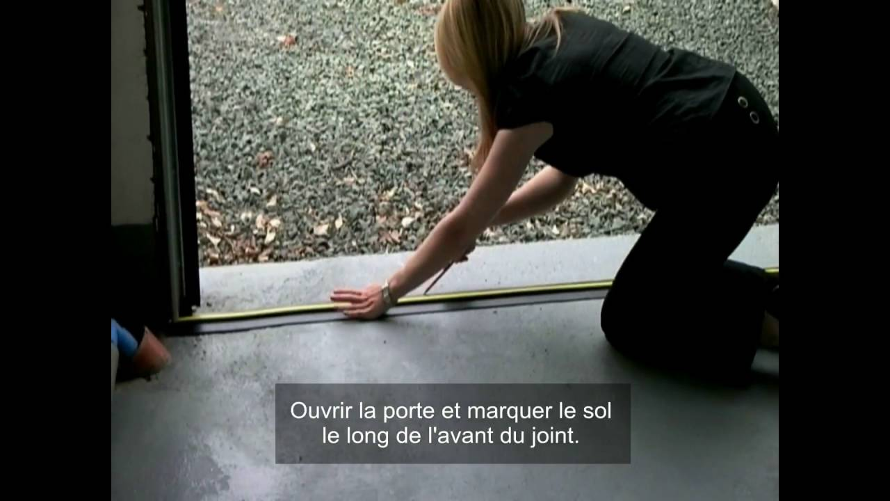 instructions de montage pour la weather stop joint de seuil de plancher youtube. Black Bedroom Furniture Sets. Home Design Ideas