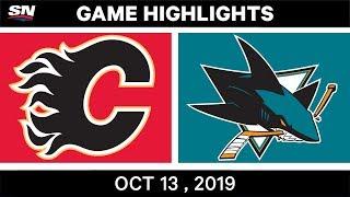 Nhl Highlights | Flames Vs Sharks – Oct 13th 2019