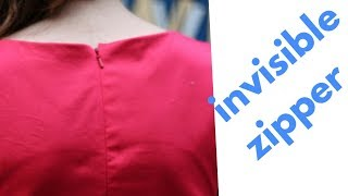 How to attach invisible zipper