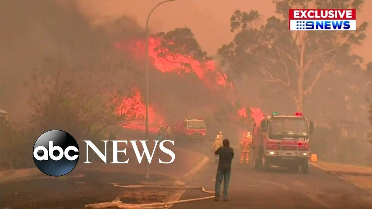 Dramatic images from massive fires in Australia l ABC News