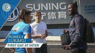 ROMELU LUKAKU'S FIRST DAY AT INTER! | #WelcomeRomelu 🇧🇪⚫🔵