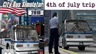 City Bus Simulator 2010 - New York 4th of july trip PC HD