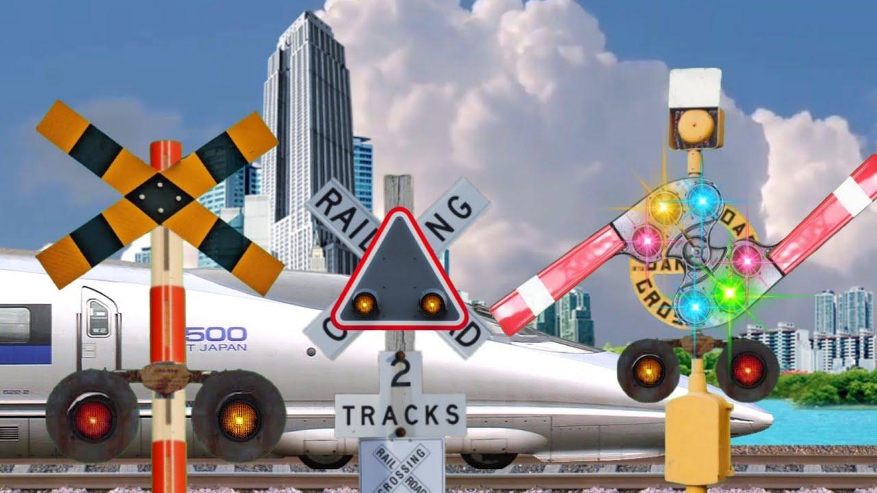 Download Palang pintu kereta api palangnya muter ada kereta lewat  Animasi perlintasan kereta api indonesia