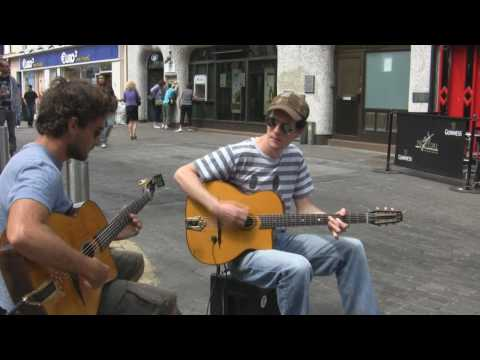 Buskers - Musicians - Galway West coast of Ireland - HD